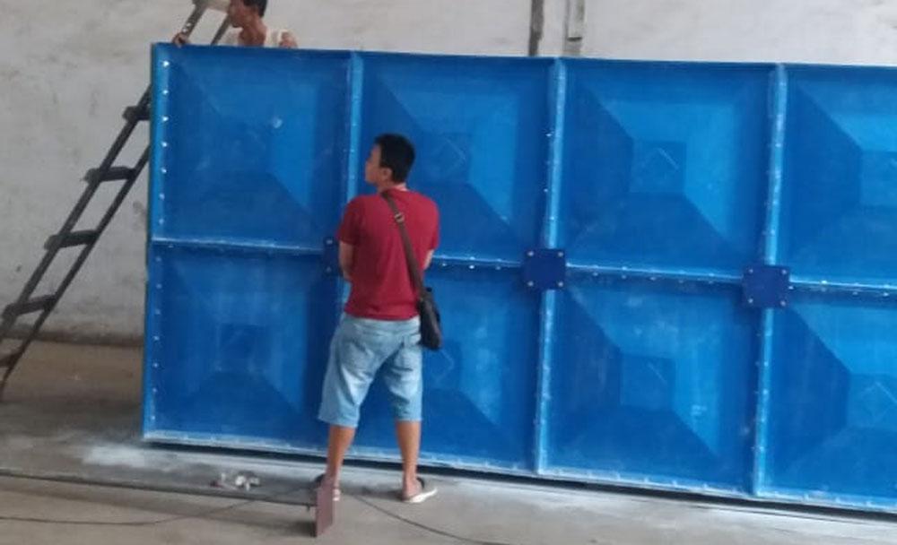 Pembuatan Tangki Air Fiberglass di Depok